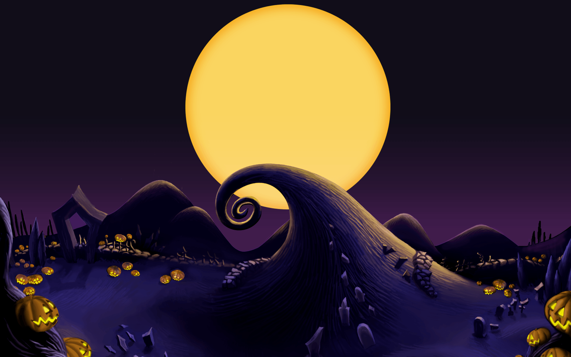 Nightmare Before Christmas 2 Backgrounds | Wallruru.com