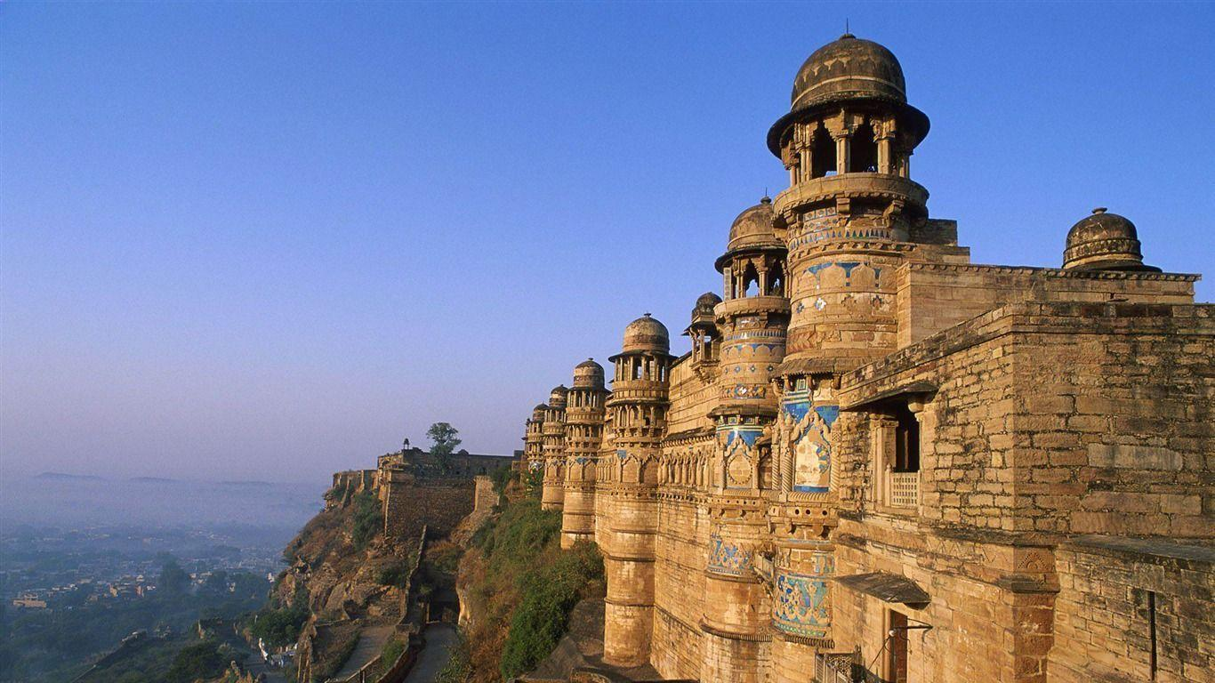 gwalior fort india-City travel photography wallpaper - 1366x768 ...