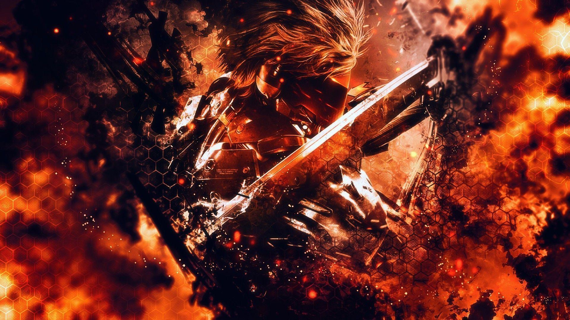 Flames Raiden Metal Gear Rising Revengeance Mgr Wallpapers Mixhd