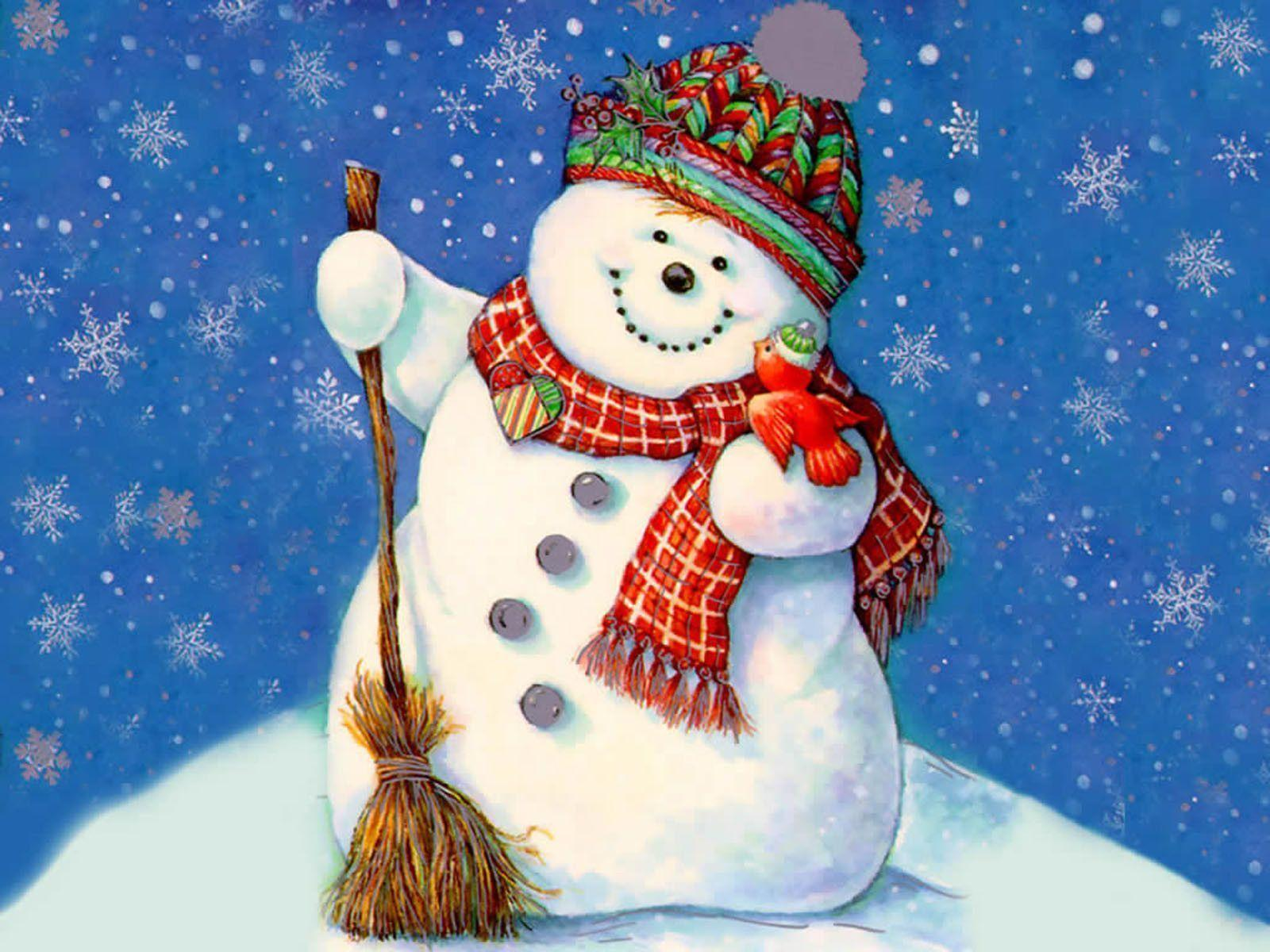 Christmas Snowman Wallpapers - Wallpaper Cave