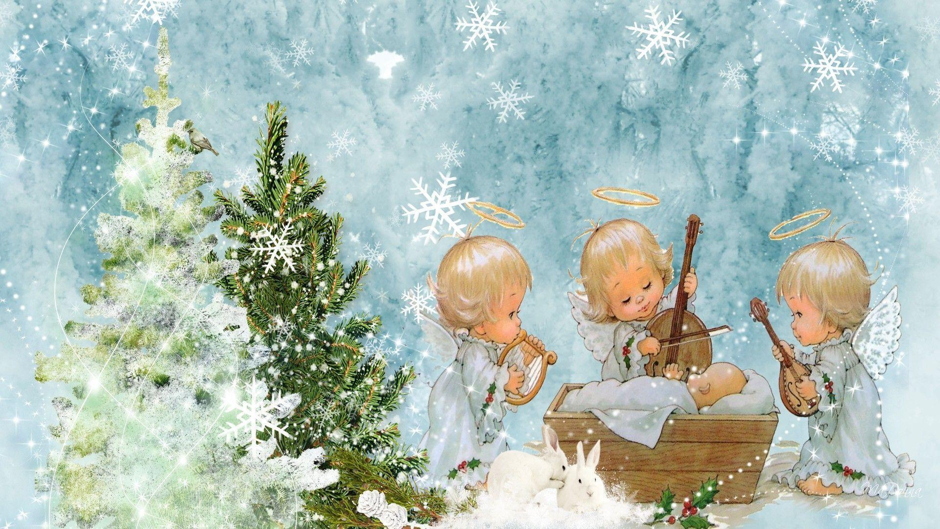 Christmas Angel Wallpapers - Wallpaper Cave