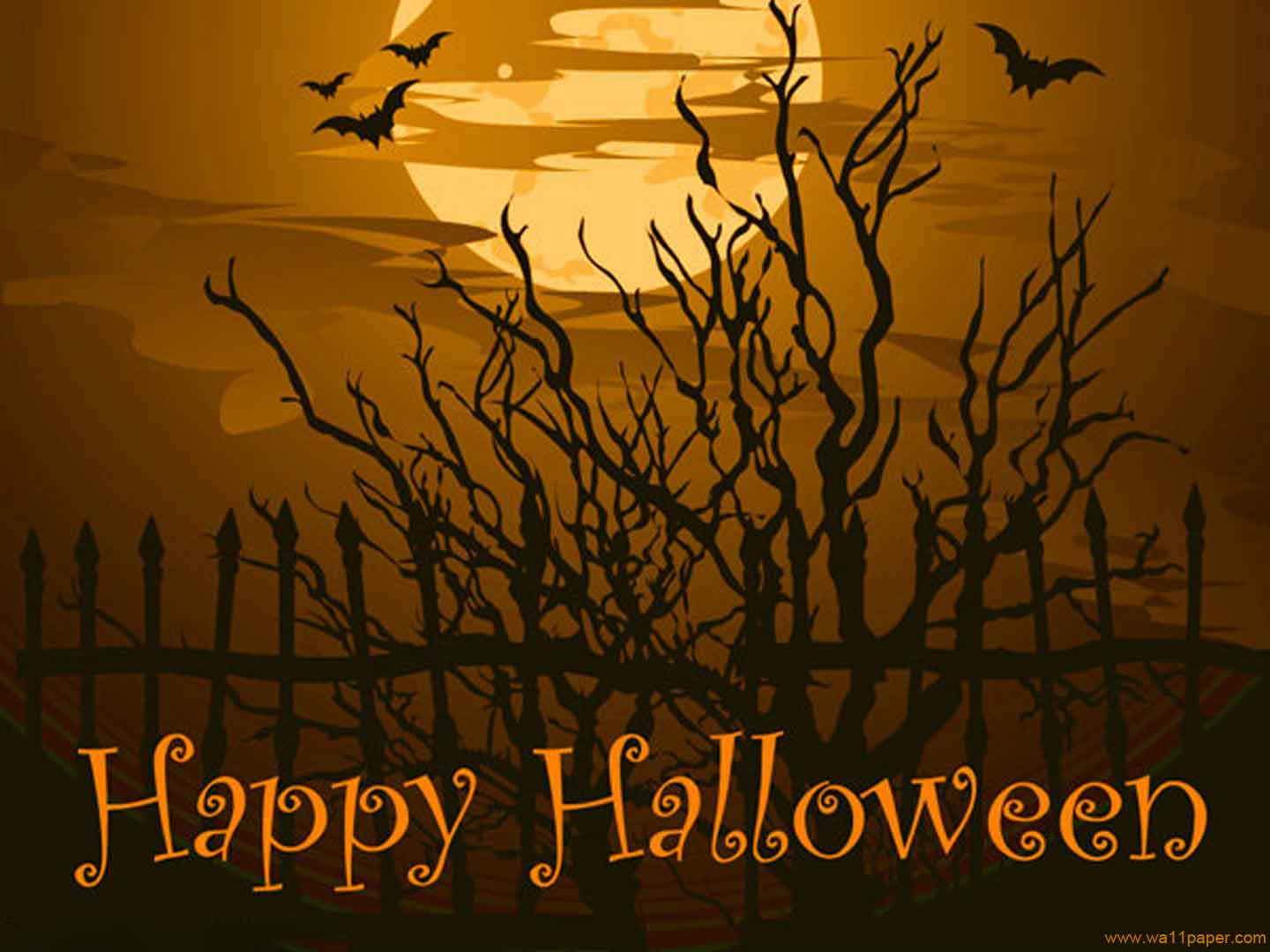 Wonderful Free Wallpapers   Happy Halloween Tree Wallpaper Wallpaper Pictures Gallery