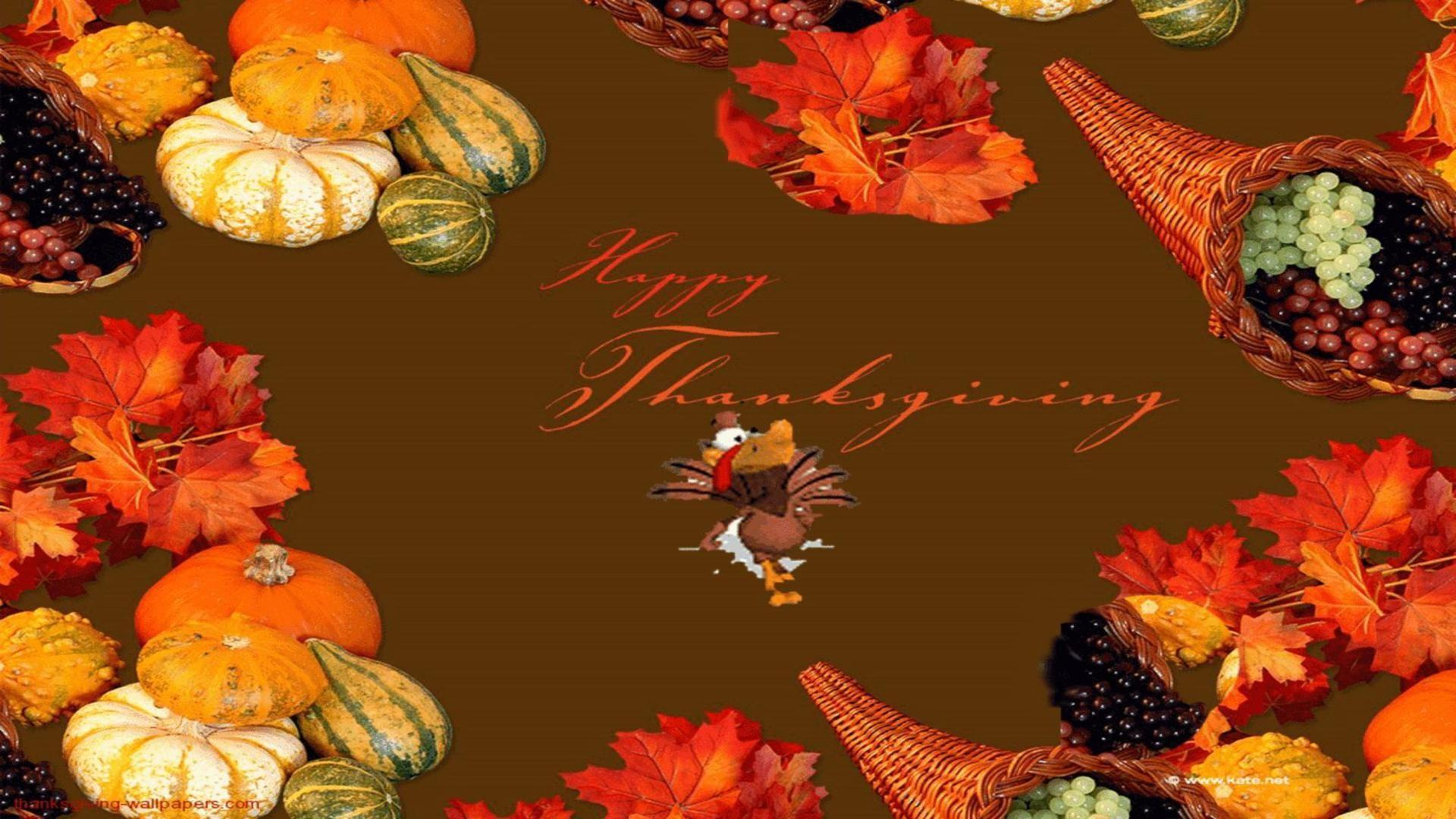 Happy thanksgiving day free greeting card free desktop backgrounds