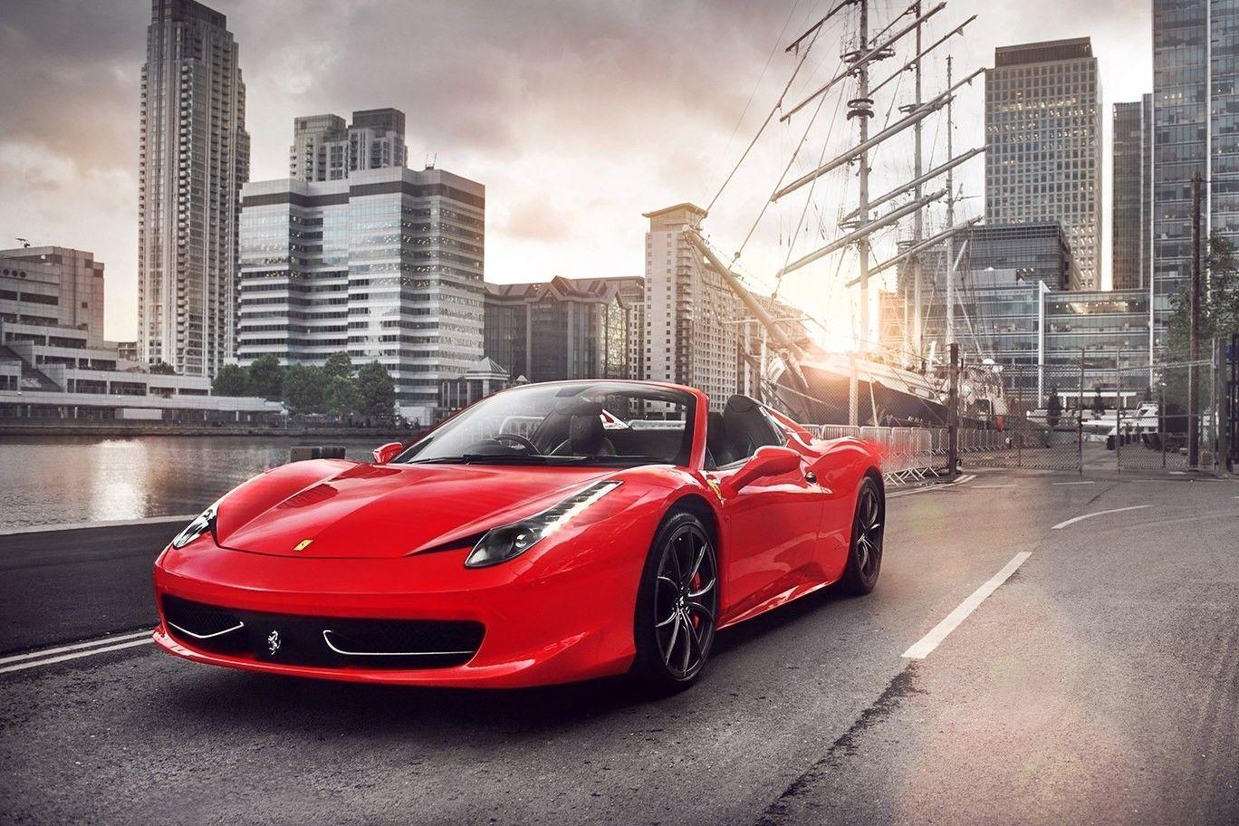 Get Hd Wallpaper Grey Ferrari 468 Italia  Pics