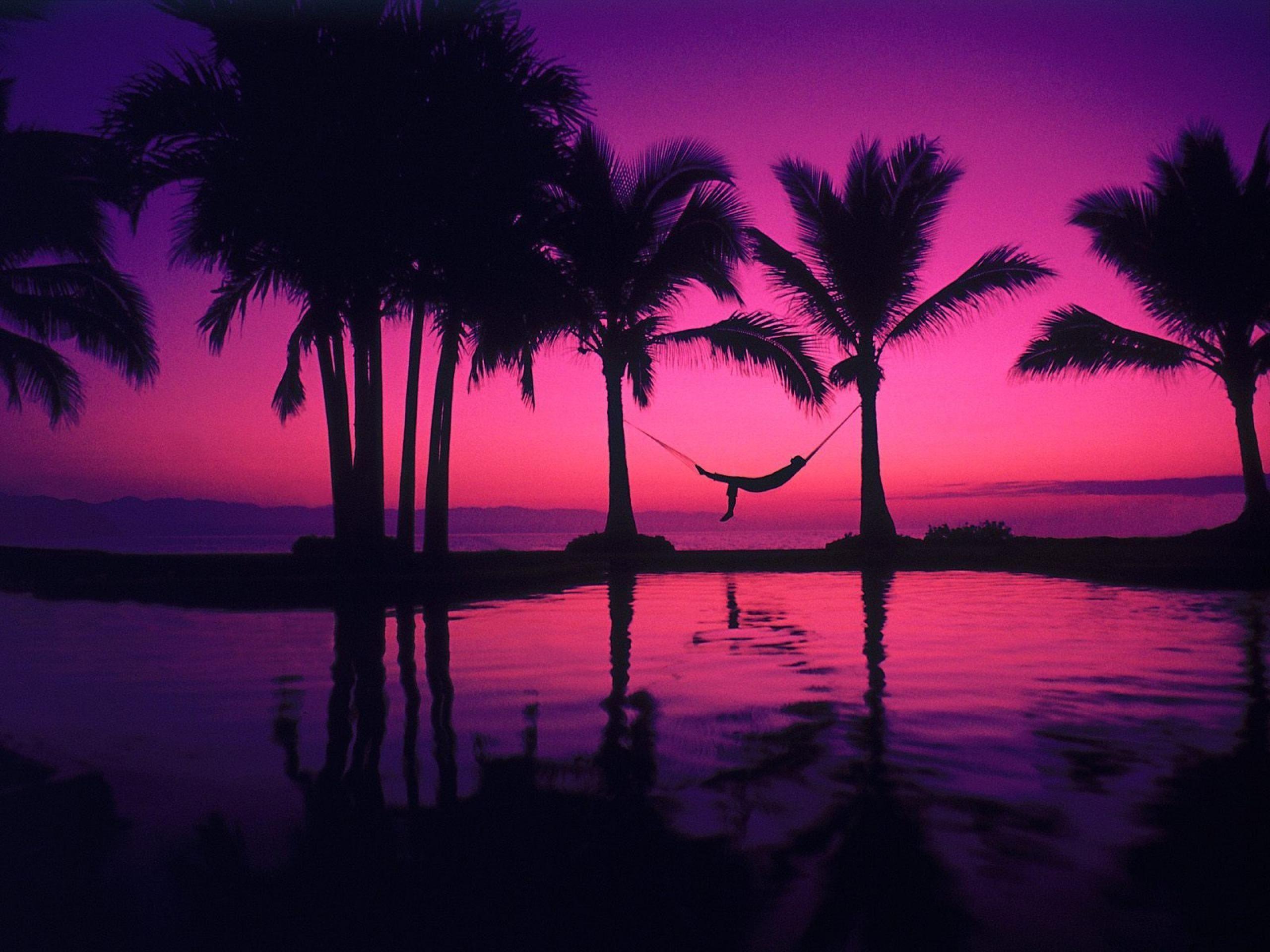Pink Beach Sunset Wallpaper: Hawaii Sunset Wallpapers