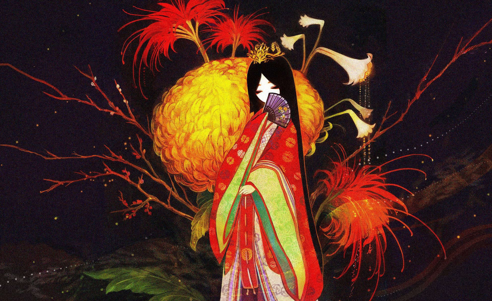 Ayu in a Kimono Wallpaper by francisco on DeviantArt