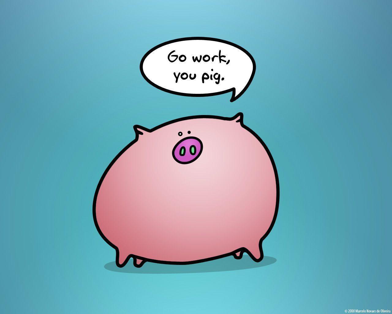 cute pigs cartoon wallpaper - photo #20