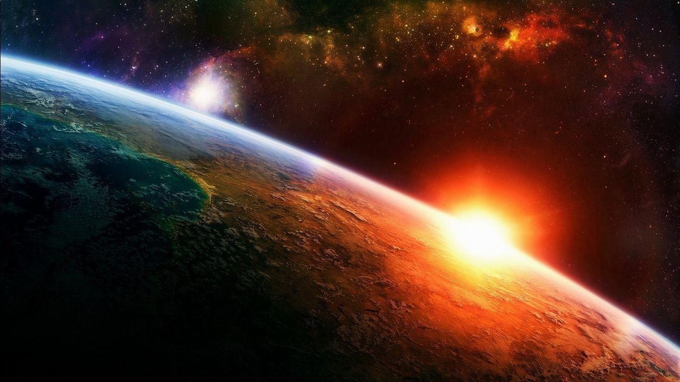 Sunrise In Space Wallpapers 1366x768