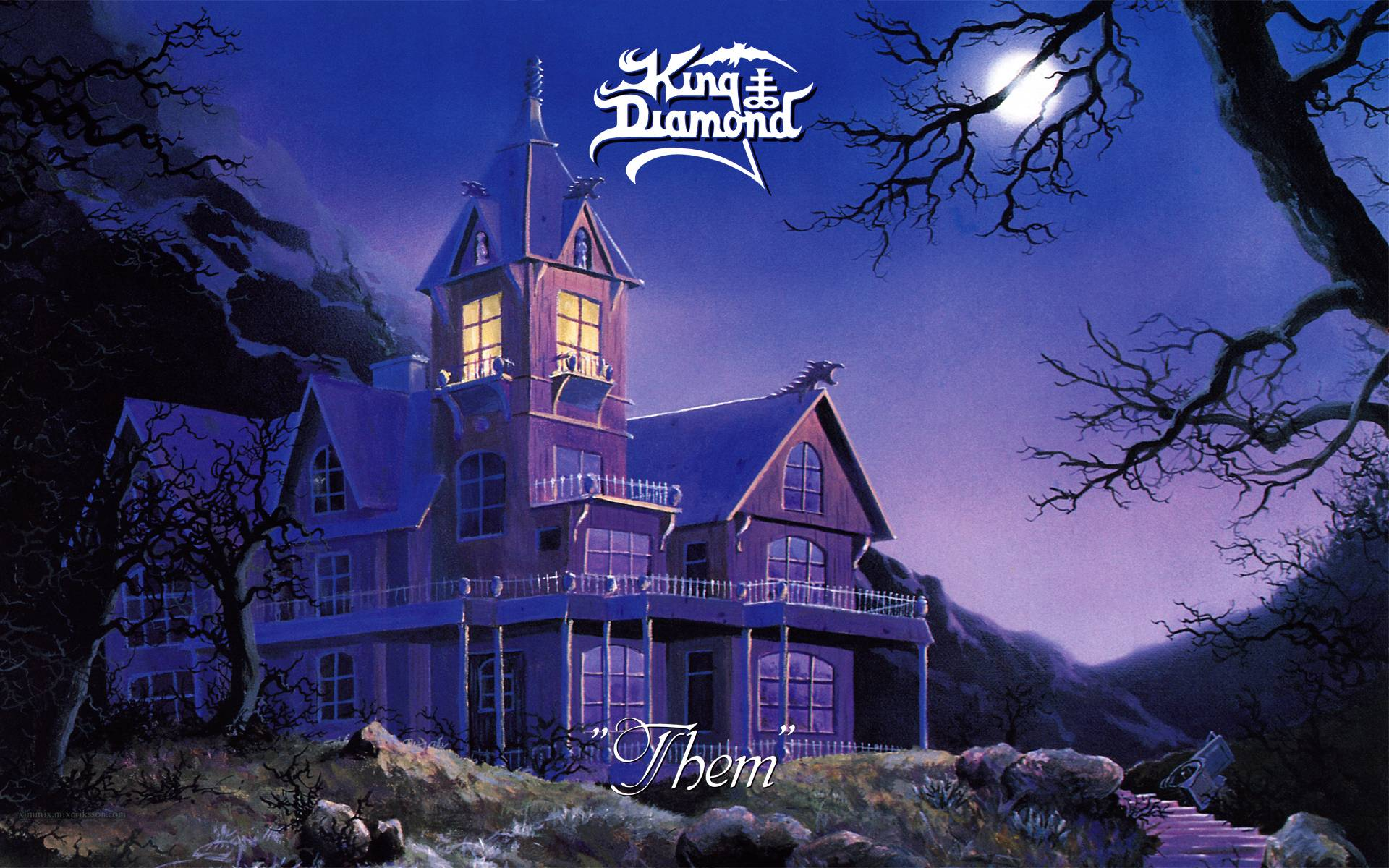 King diamond wallpapers wallpaper cave for Sa old house music