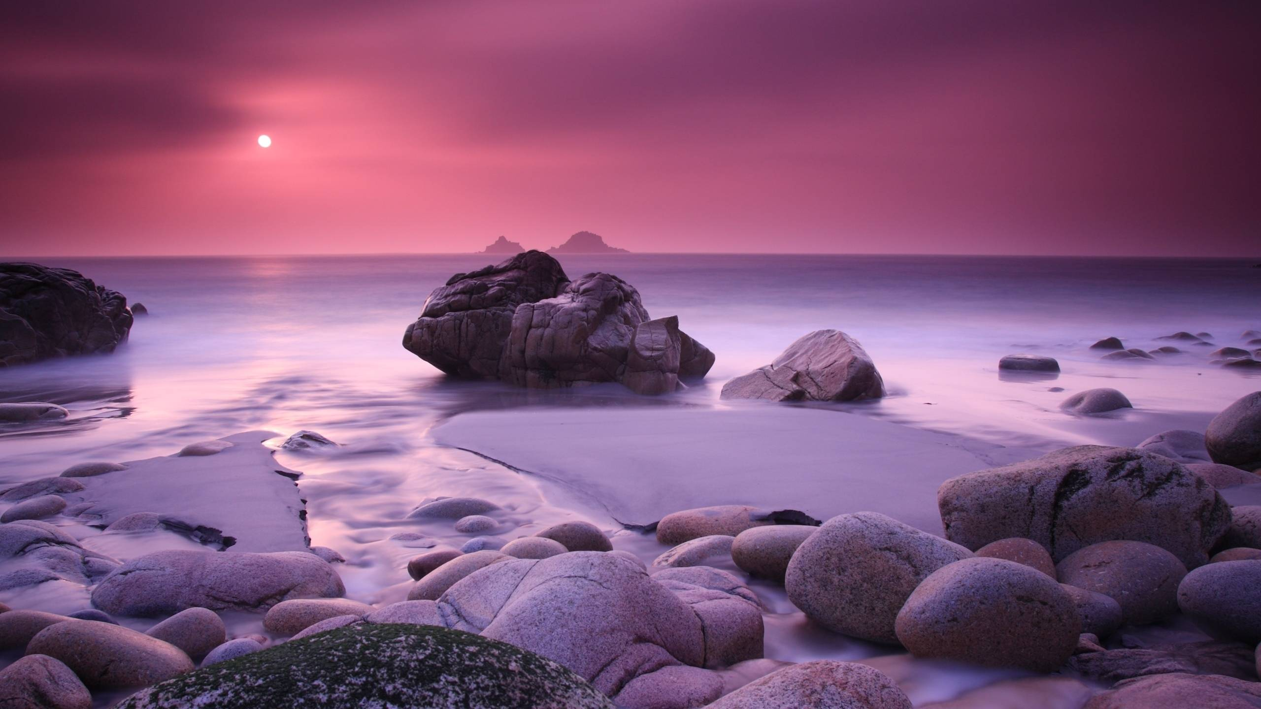 Pink Haze And Stones Wallpaper For Your IMac