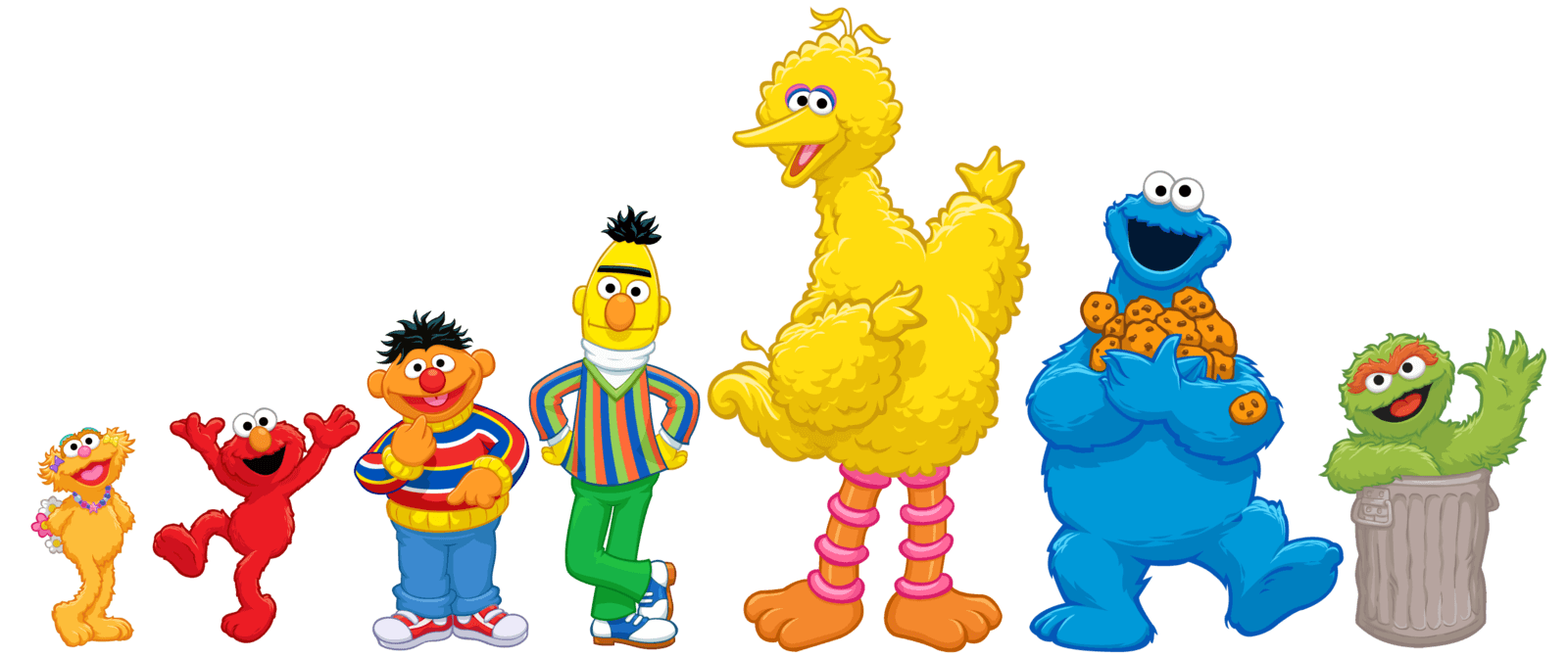 Sesame Street Wallpaper on oscar cut outs