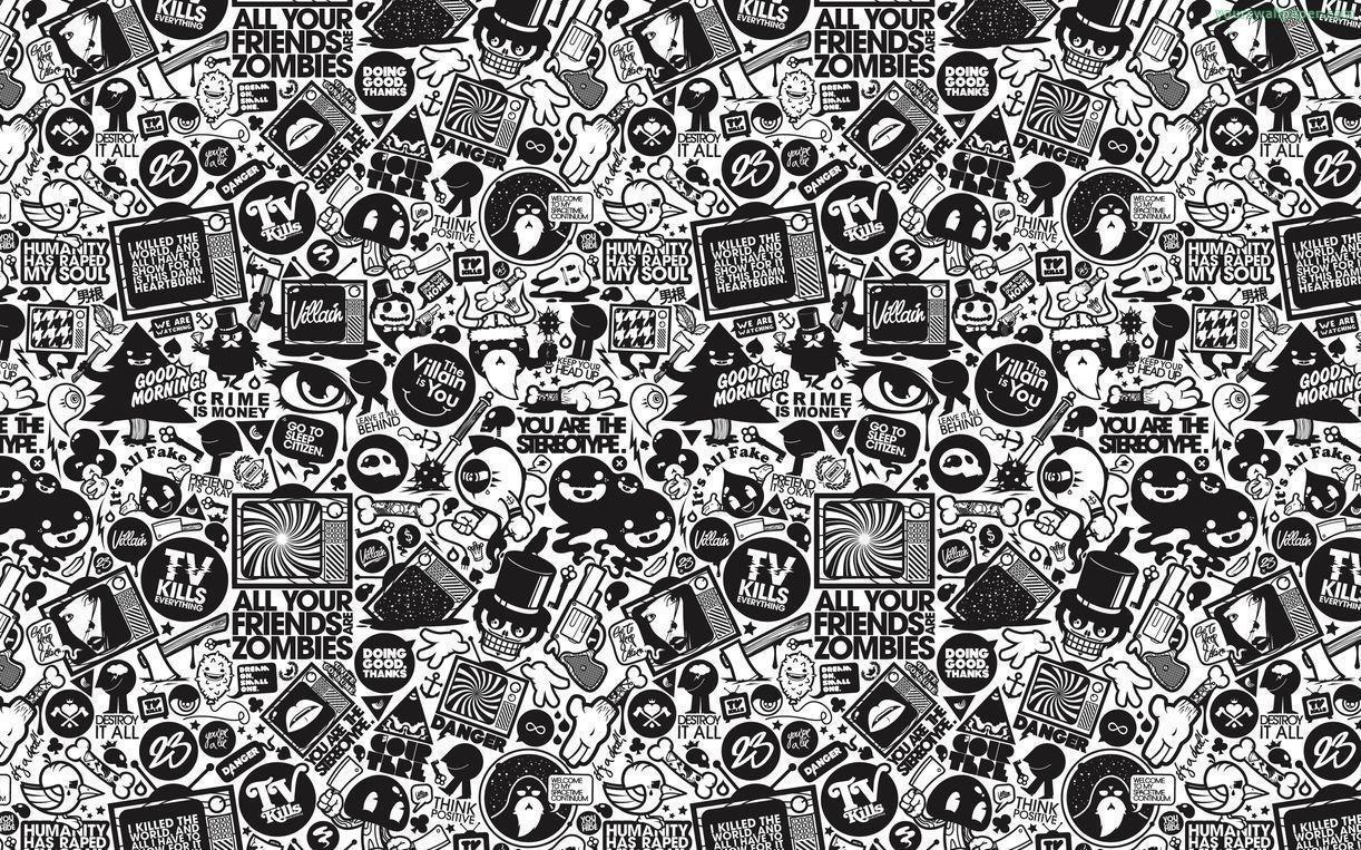 Doodle wallpapers wallpaper cave for Classic christmas films black and white