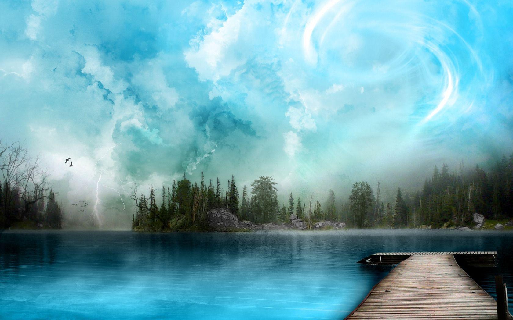 Wallpaper Nature Blue