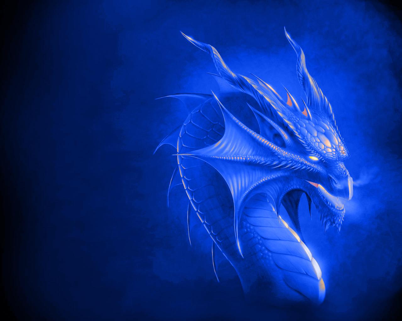 cool blue dragon wallpaper - photo #14