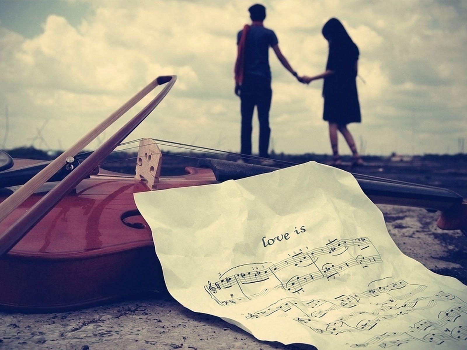 Hd wallpaper love couple - Love Couple Violins 1600x1200 Hd Wallpaper Hd Wallpapers 201