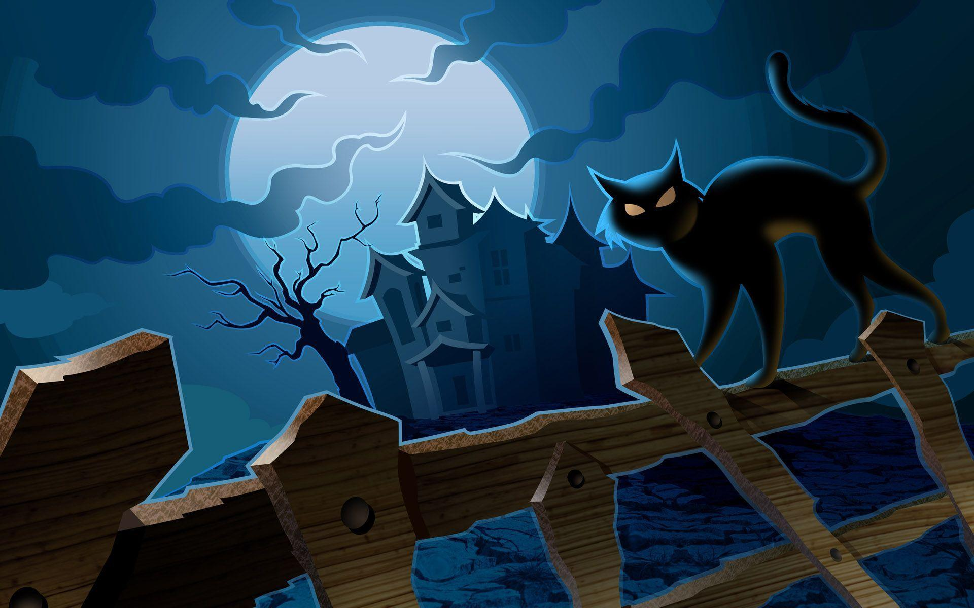 Scary Halloween 2012 HD Wallpapers   Pumpkins, Witches, Spider Web ...