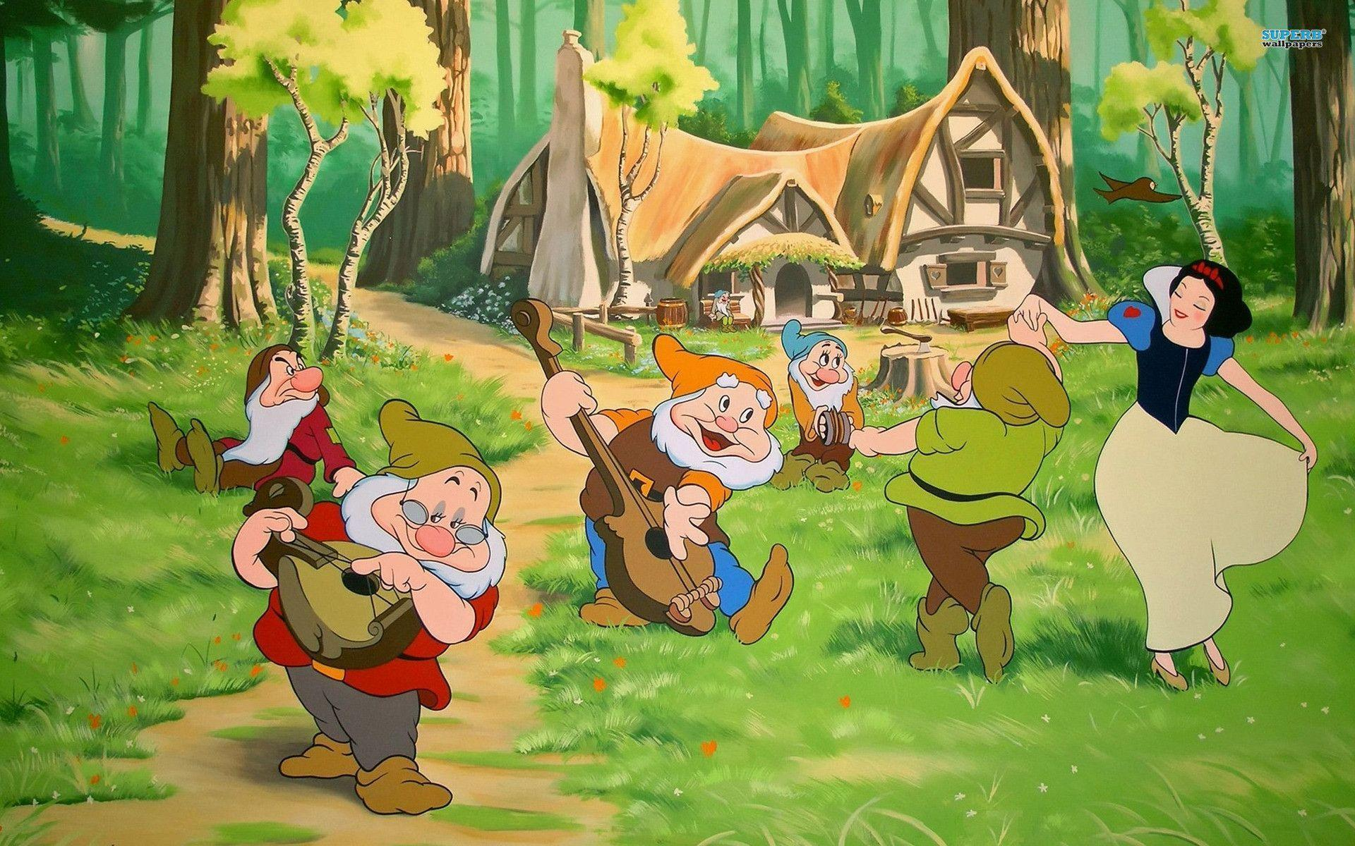 snow white and the seven dwarfs - HD 1920×1200