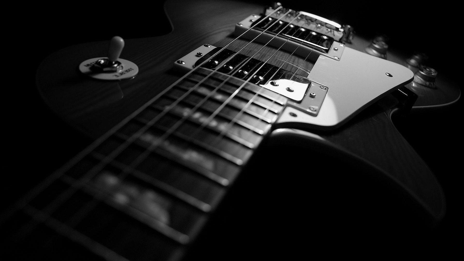 Wallpapers HD 1080p Black And White Guitar