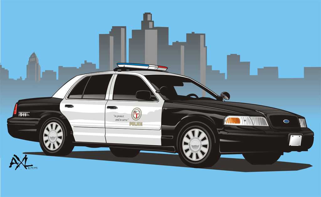how to draw a police car from the front