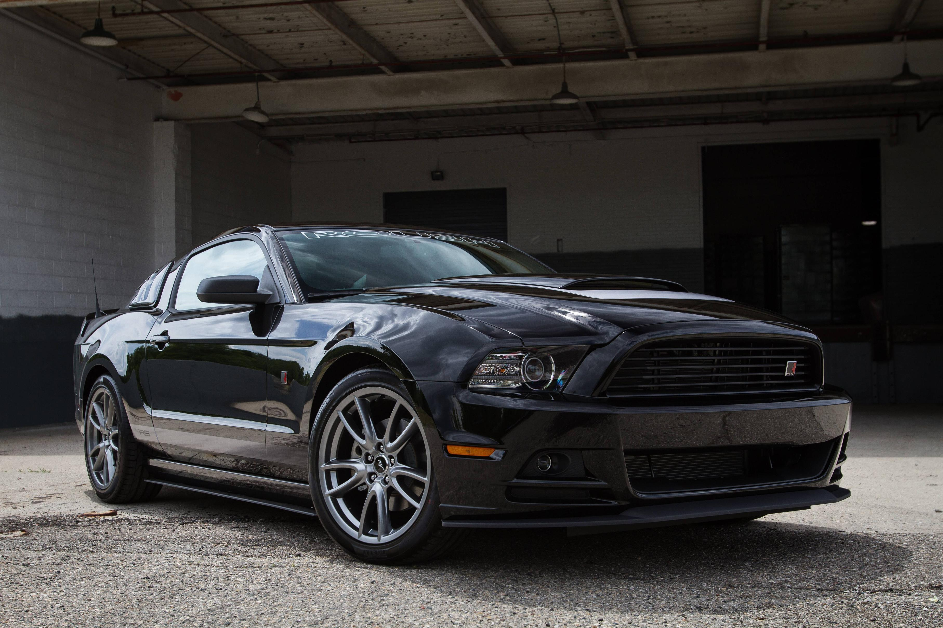 2013 roush ford mustang r s muscle tuning v wallpaper 5184x3456 - Mustang 2014 Black Wallpaper