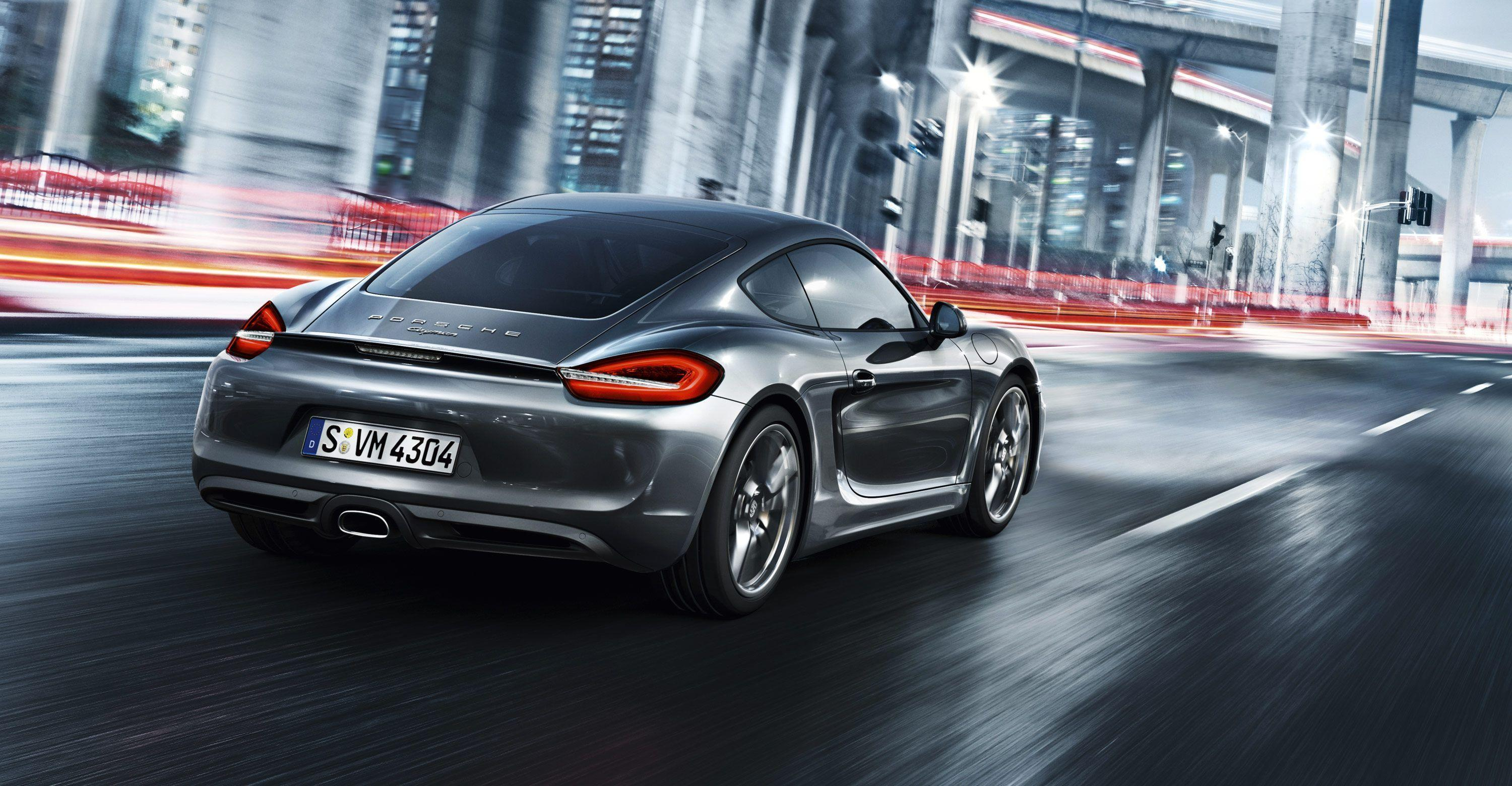 Porsche Cayman On The Road - Wallpapers AM