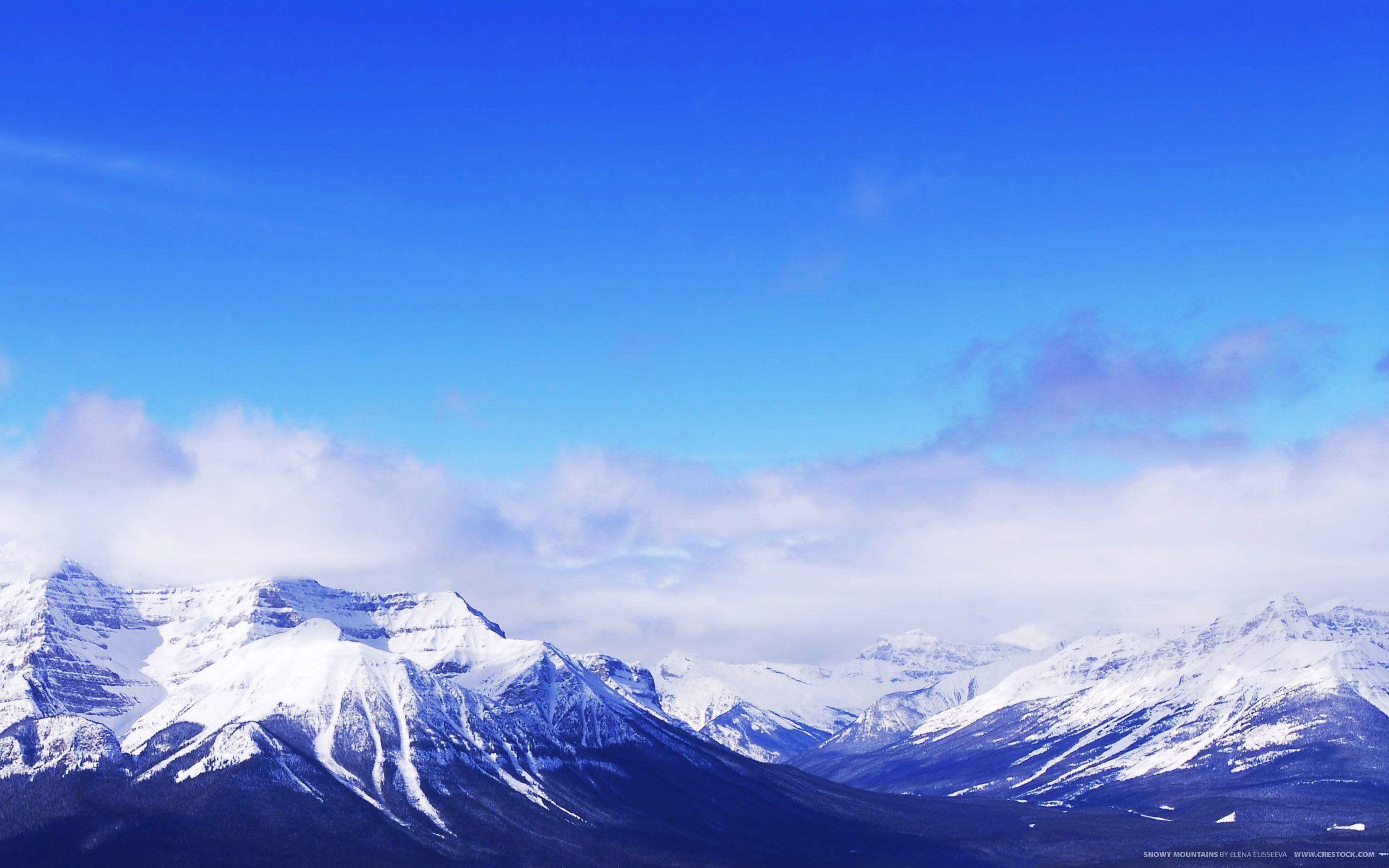 Wallpapers For > Snow Mountain Desktop Backgrounds