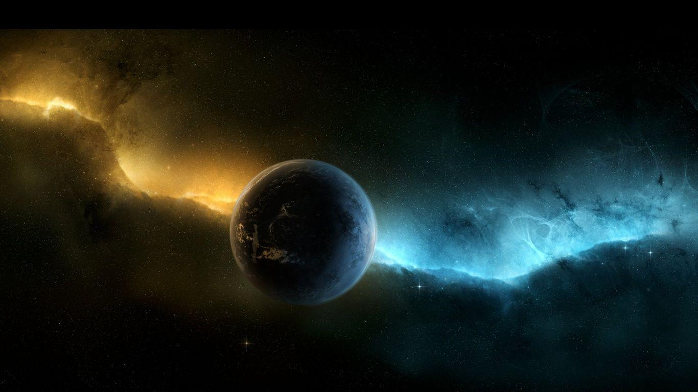 1366x768 Space Planet Aurora Wallpapers