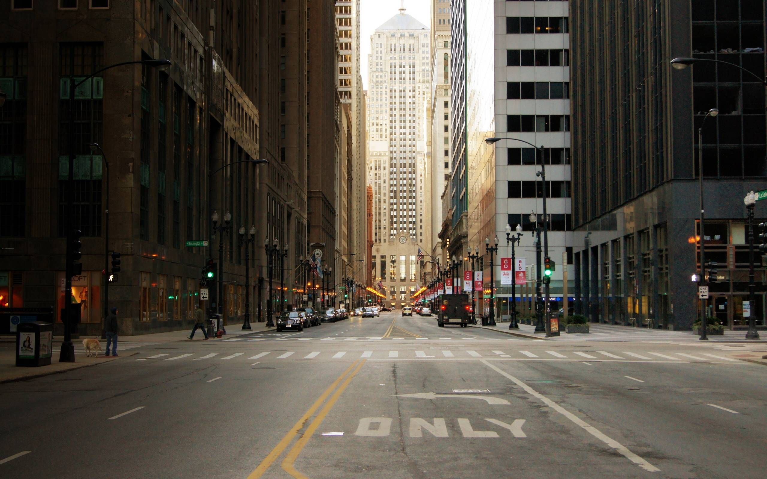 City street backgrounds wallpaper cave city street of chicago in usa skyscrapers wallpaper voltagebd Gallery