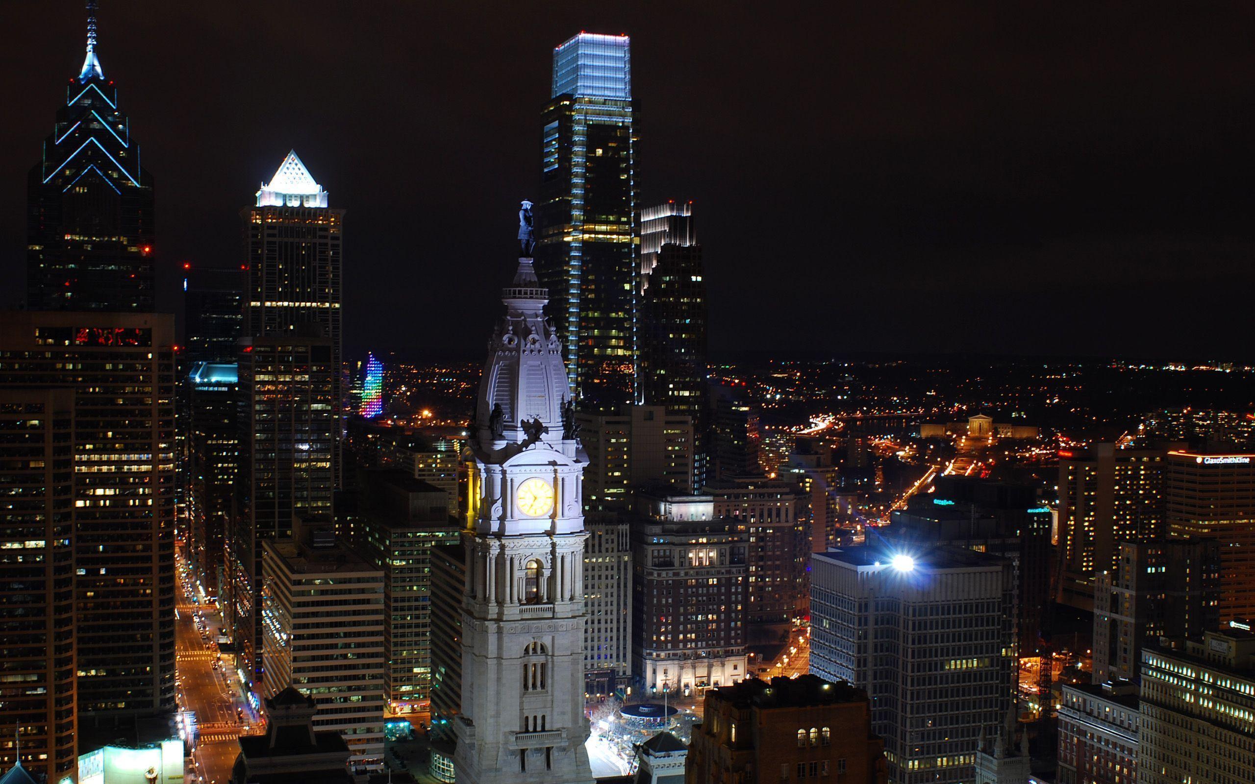 Philadelphia skyline wallpapers wallpaper cave - Skyline night wallpaper ...