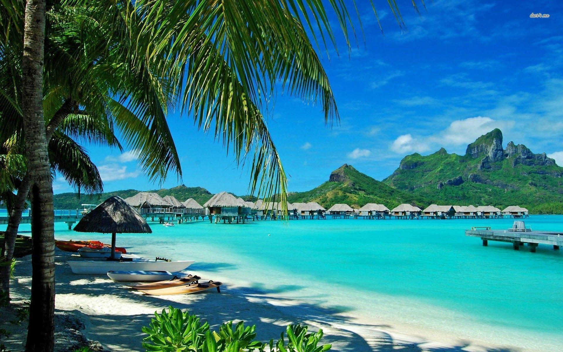 Hawaiian bungalows wallpaper - Beach wallpapers - #