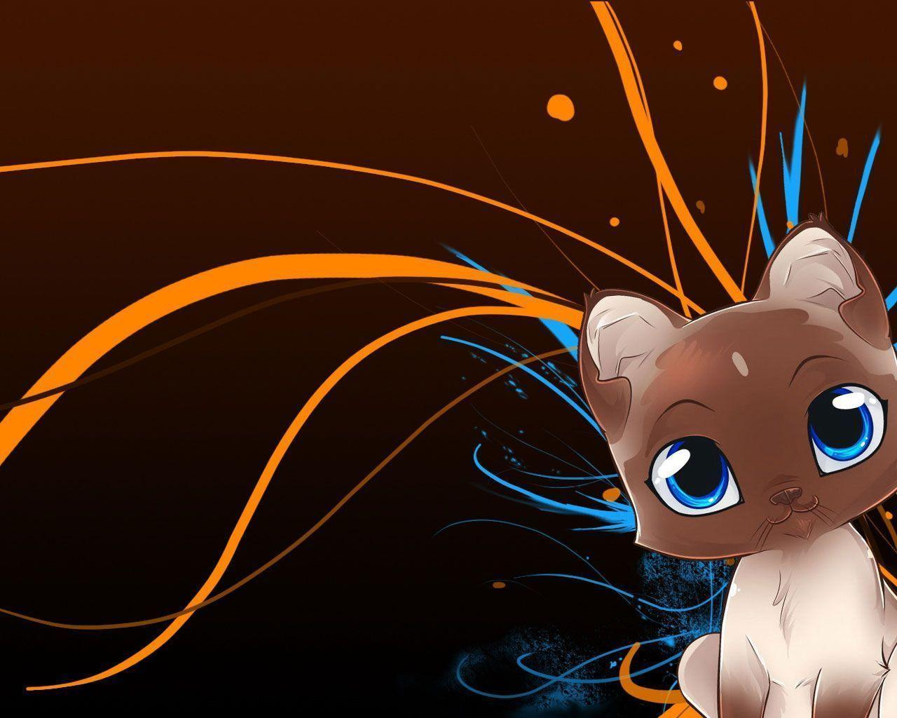 Cartoon cat wallpapers wallpaper cave - Wallpaper computer anime ...