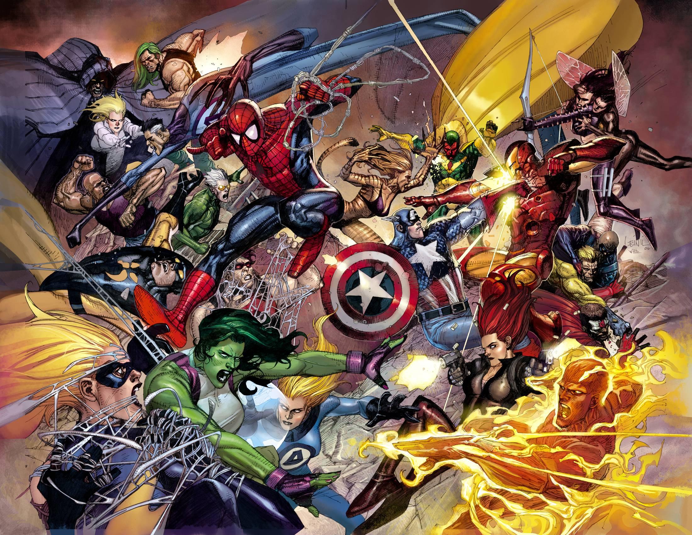 Marvel Civil War Wallpaper - WallpaperSafari
