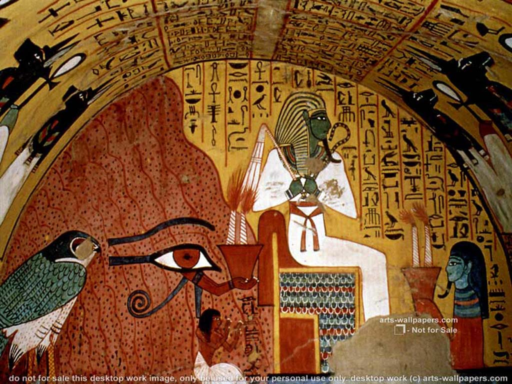 Pharaoh wallpapers wallpaper cave for Egyptian mural art