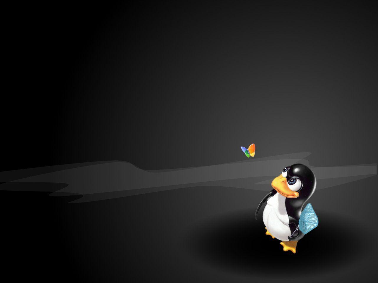 Tux Winfly - Linux Wallpaper | Wallpaper Image