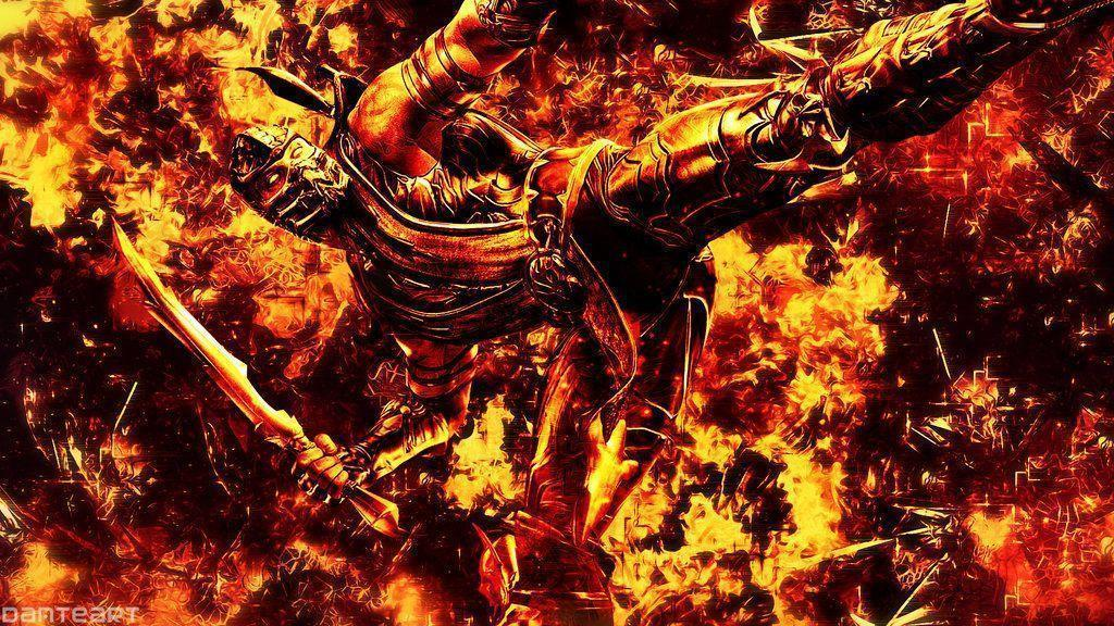 Mortal Kombat Scorpion Cracked Hell Wallpapers by