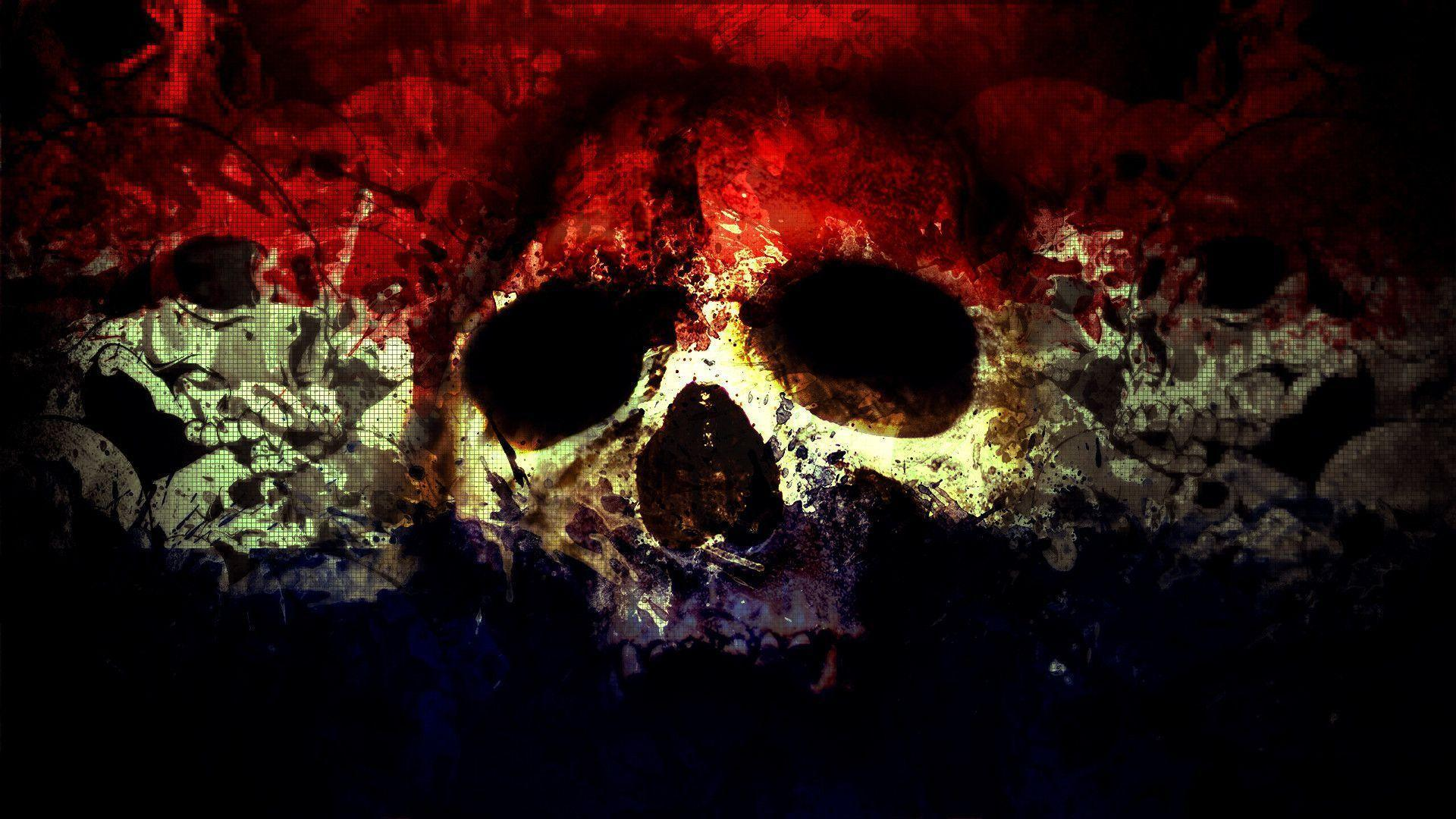 Skull Wallpaper Art Background
