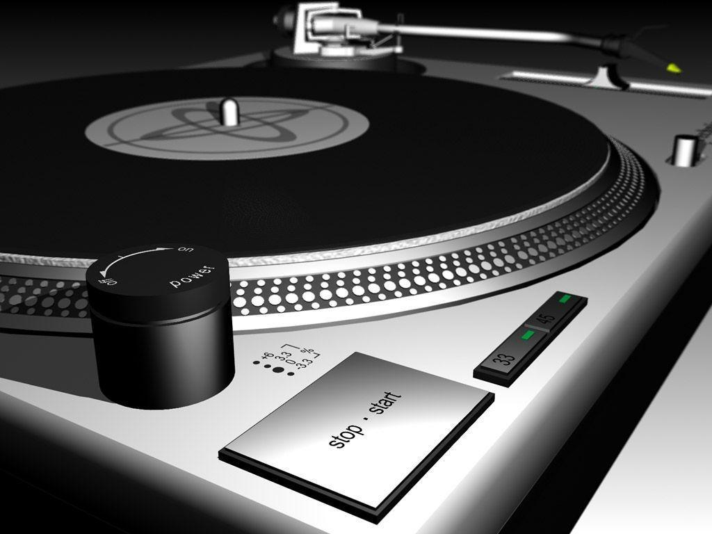 Dj turntable wallpapers wallpaper cave for Old house music mix