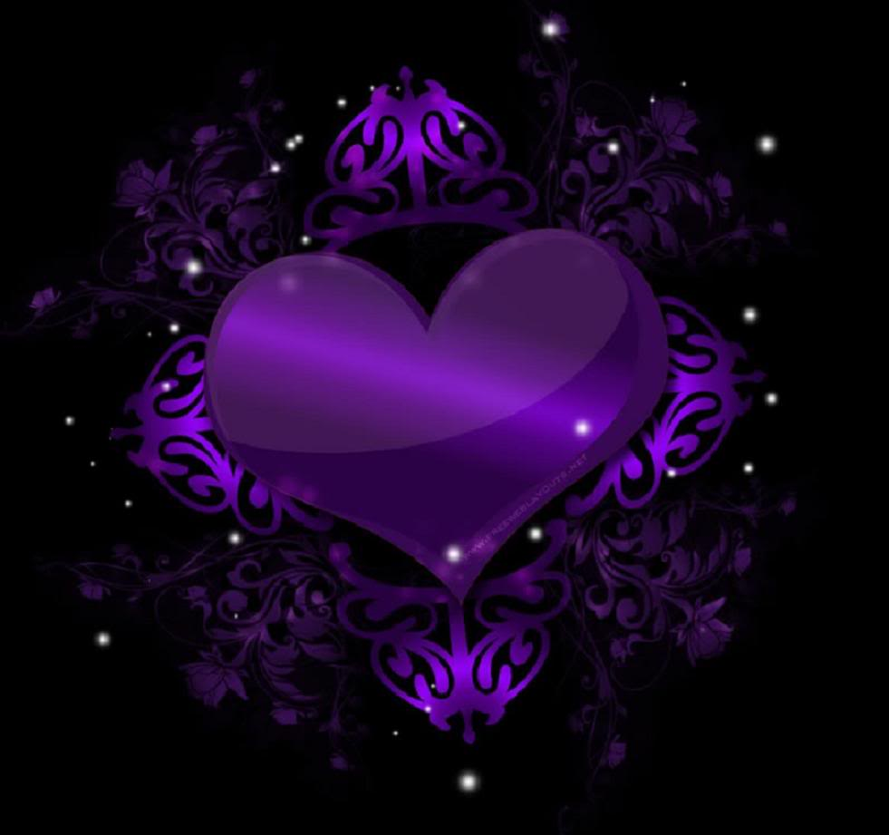 wallpapers purple hearts pink - photo #44