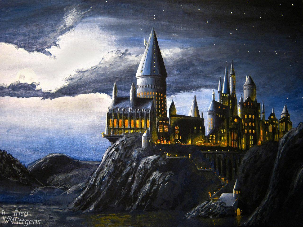 Hogwarts Castle Night Wallpapers Image & Pictures