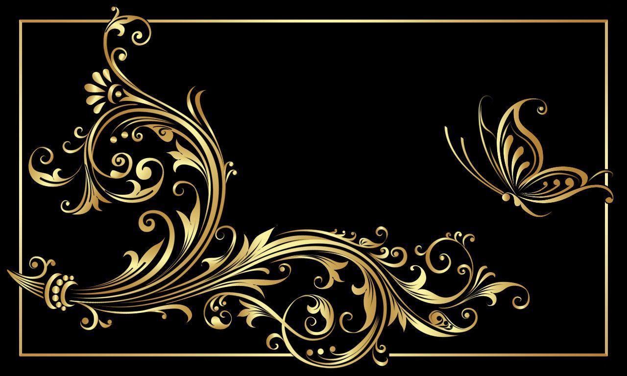 Black gold backgrounds wallpaper cave for Black wallpaper with design