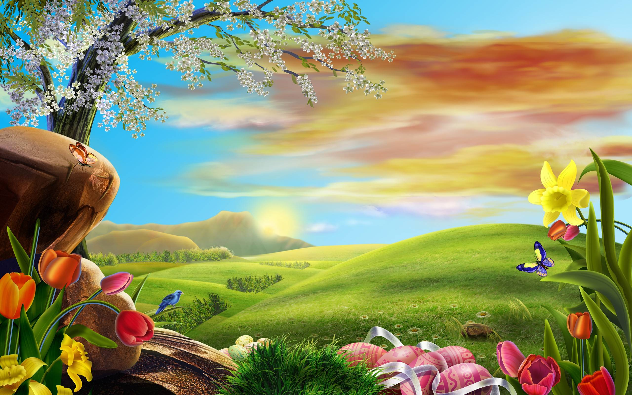 2014 easter holiday desktop background wide or hd flowers wallpapers