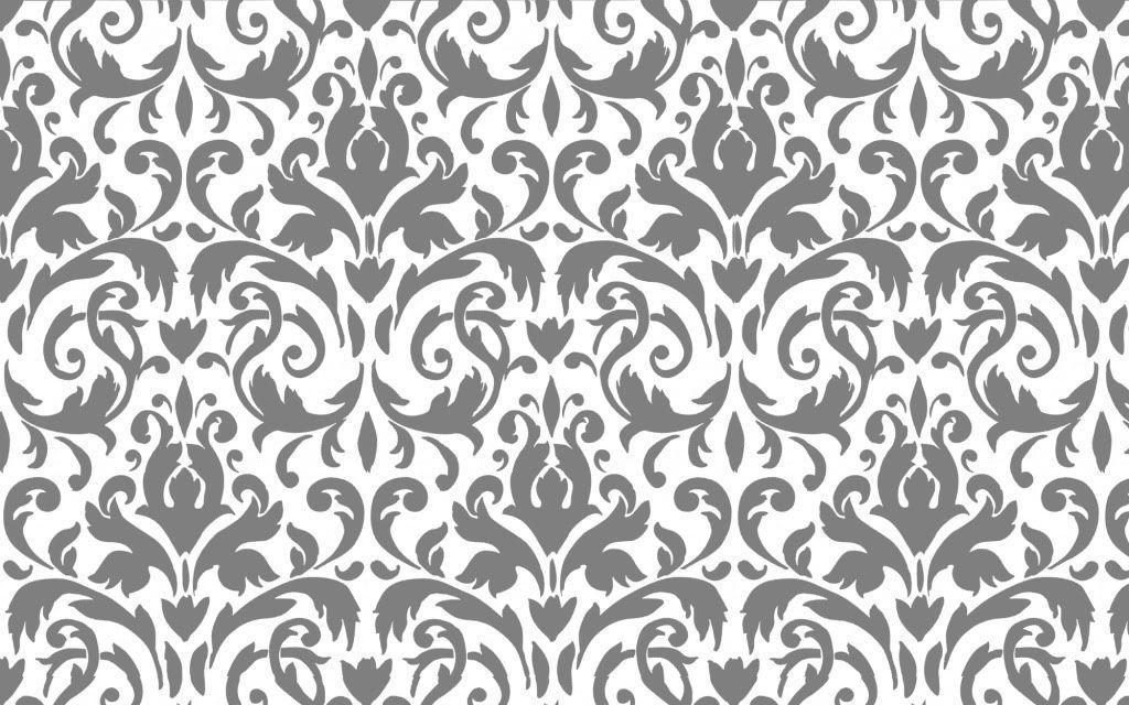 Damask desktop wallpapers wallpaper cave for Gray and white wallpaper