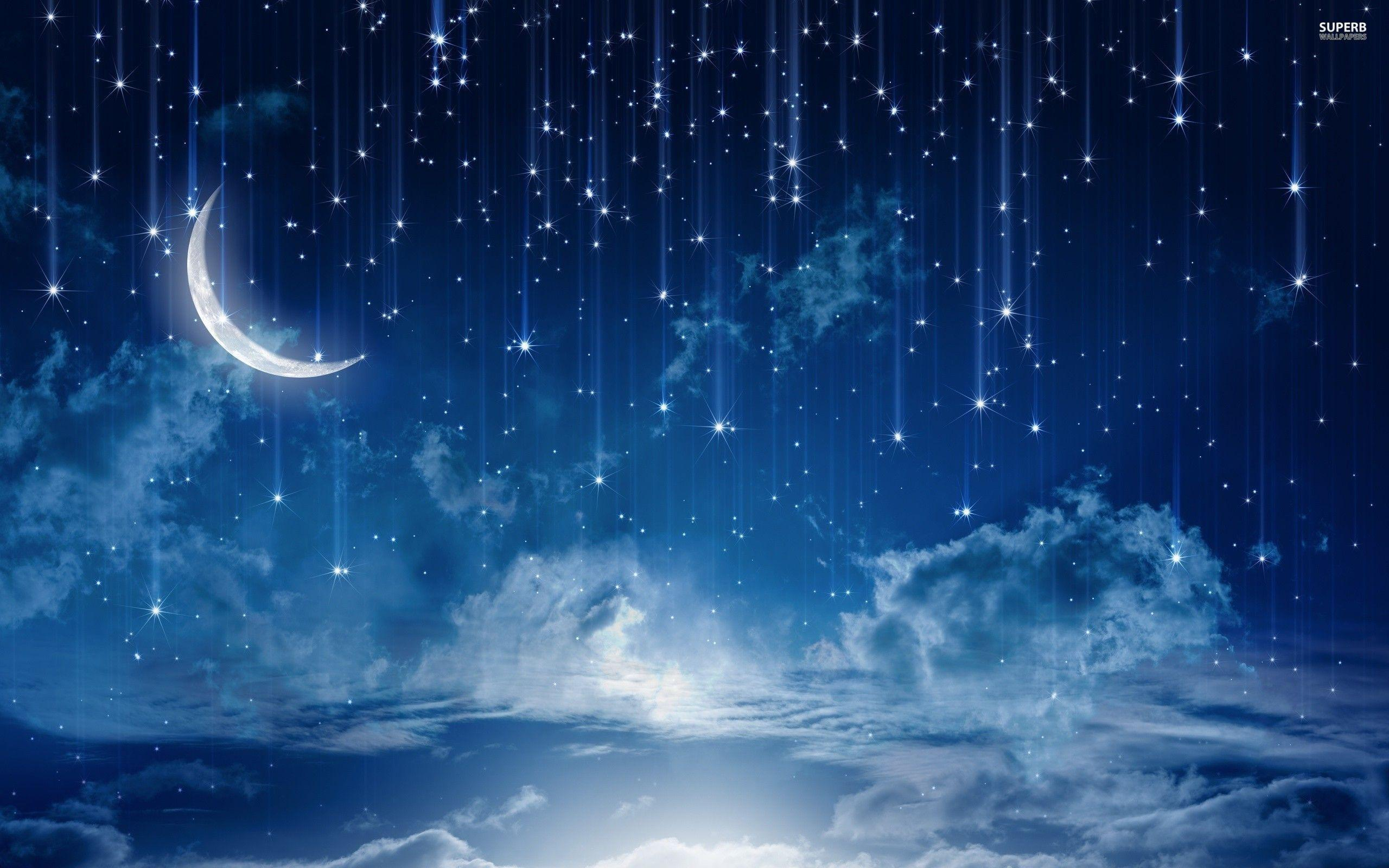 blue night sky background - photo #33
