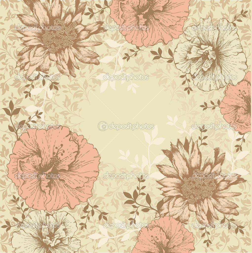 Vintage Flower Backgrounds - Wallpaper Cave