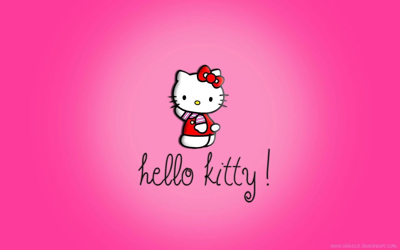 Images For Hello Kitty Black And Pink Wallpaper