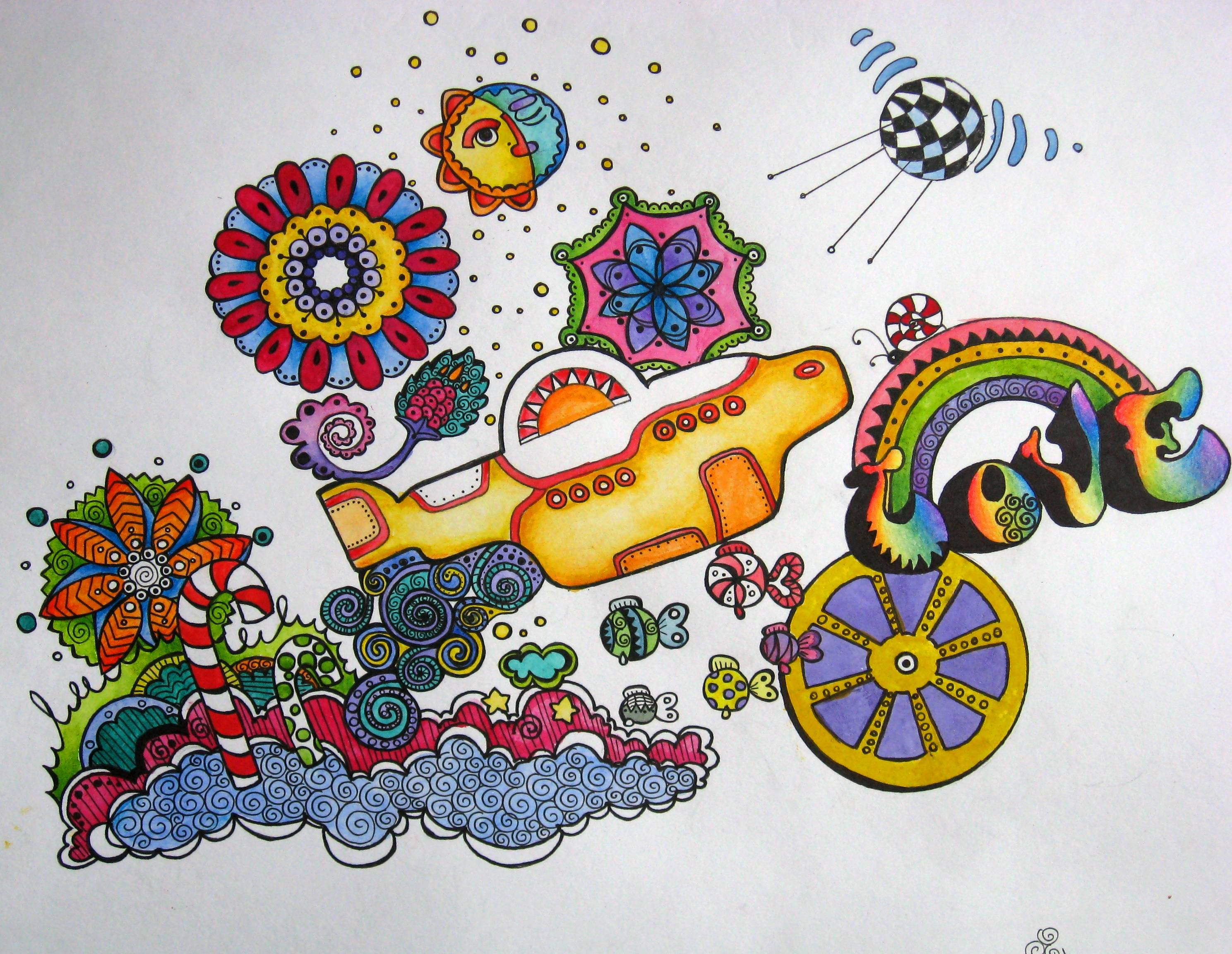 Beatles Yellow Submarine Wallpaper