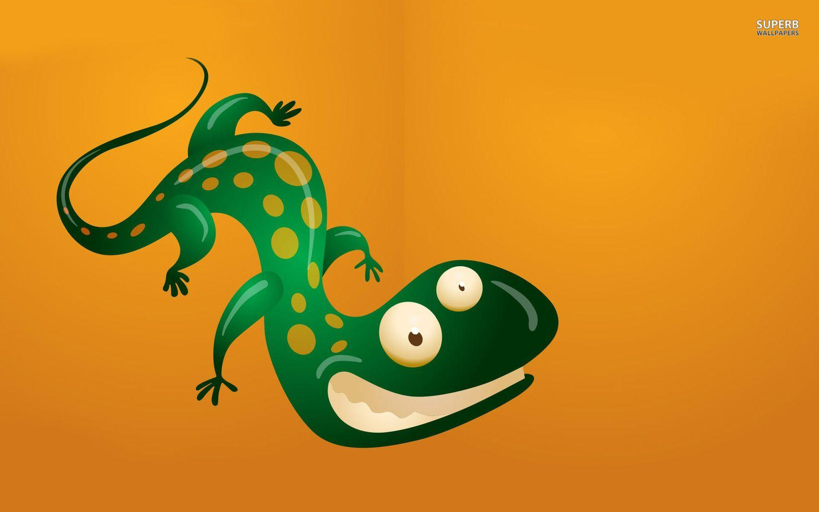 Grinning lizard wallpaper - Funny wallpapers - #