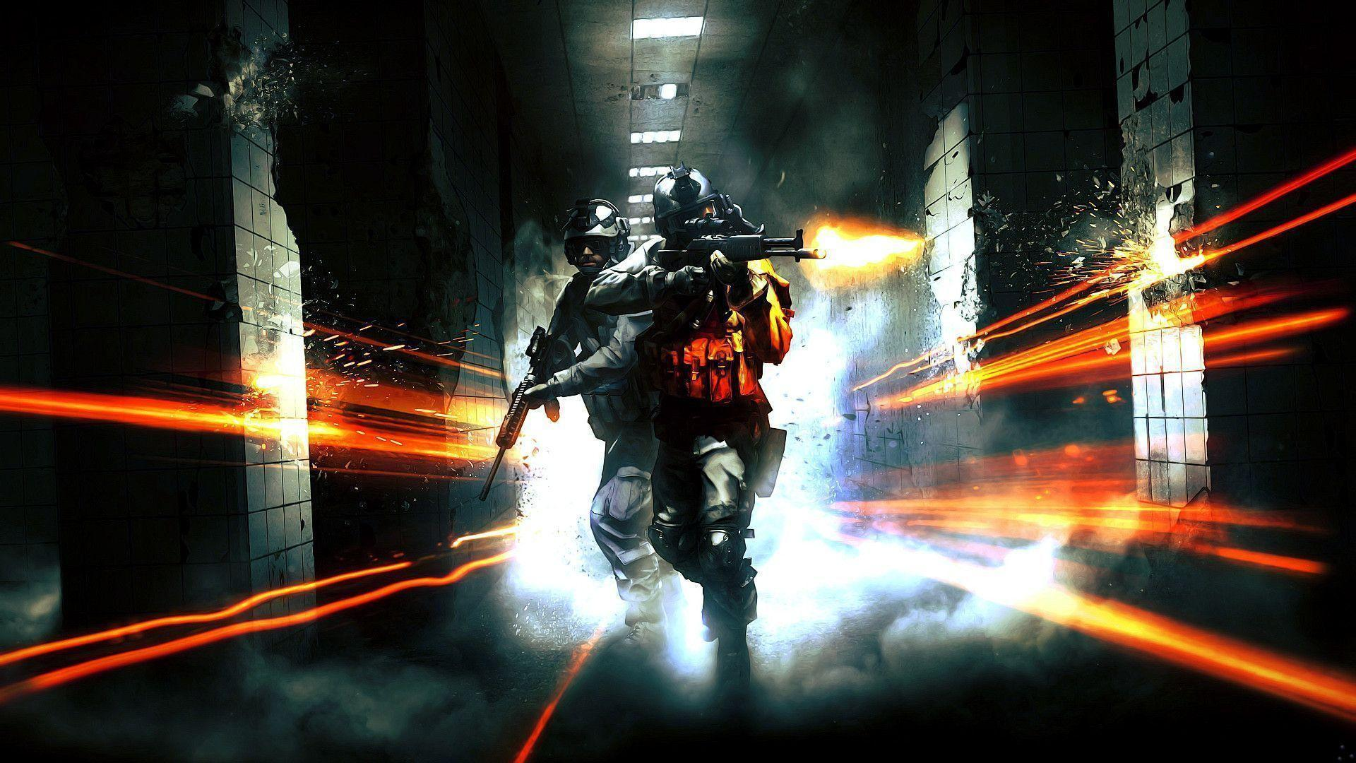 Cool Battlefield 4 Fire Armor In Black Background: Battlefield 3 Wallpapers 1080p