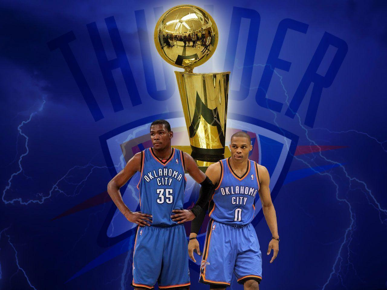 Kevin Durant And Russell Westbrook 2015 Wallpaper