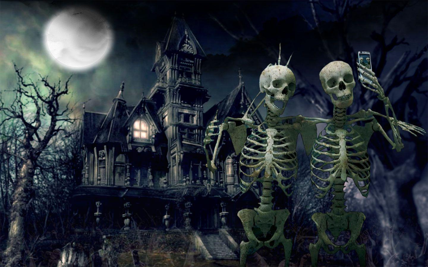 haunted house wallpaper - photo #11